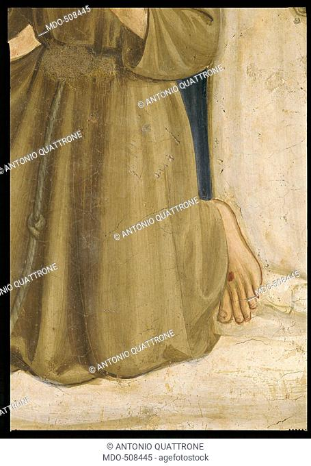 The Coronation of the Virgin, by Guido di Pietro (Piero) known as Beato Angelico, 1438 - 1446 about, 15th Century, curved fresco, cm 184 x 164