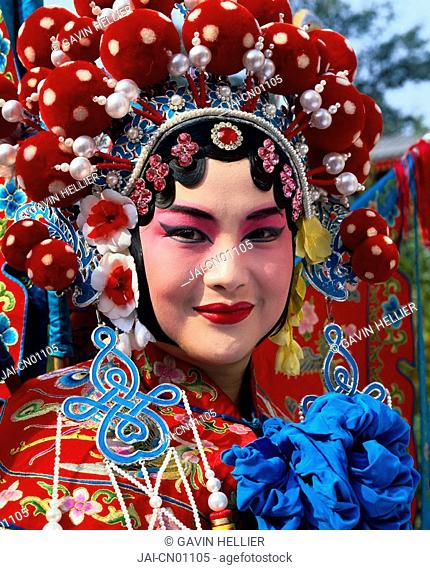 China, Beijing, Beijing opera performer