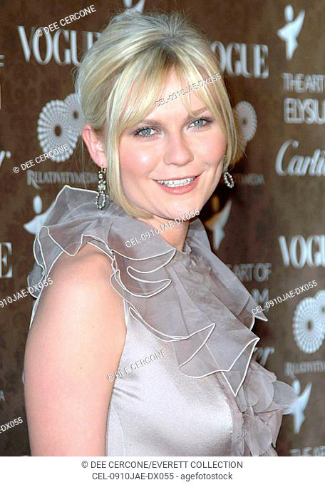 Kirsten Dunst (wearing a Valentino gown) at arrivals for The Art of Elysium 2nd Annual Black Tie Gala, Vibiana, Los Angeles, CA, January 10, 2009