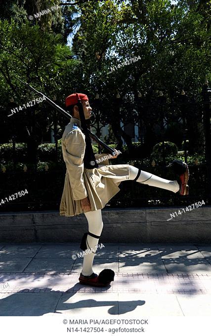 Greek guard, fustanella, Athens, Greece