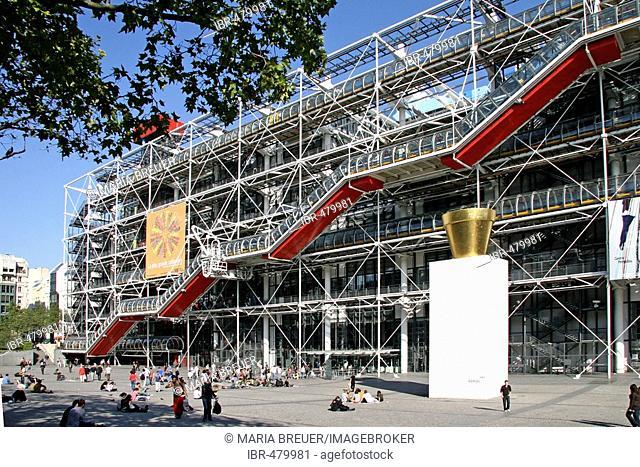 Centre Georges Pompidou Detail Paris France