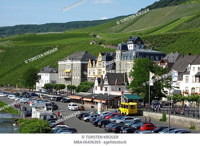 Hotels, strands, Bernkastel-Kues, Rhineland-Palatinate, Germany