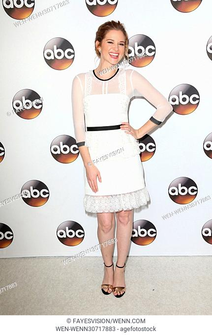 Disney/ABC TV TCA Winter 2017 Party at Langham Hotel - Arrivals Featuring: Sarah Drew Where: Pasadena, California, United States When: 10 Jan 2017 Credit:...