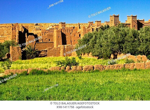 Kasbah of Aït Benhaddou, XVI Century, Atlas Mountains, Morocco, North Africa Africa