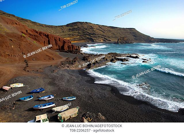 canary islands,lanzarote : El Golfo