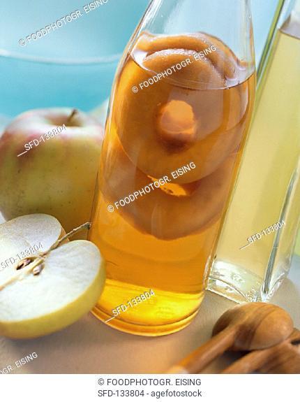 A Bottle of Apple Juice, Fresh Apples