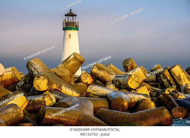 Santa Cruz Breakwater Lighthouse, California, USA
