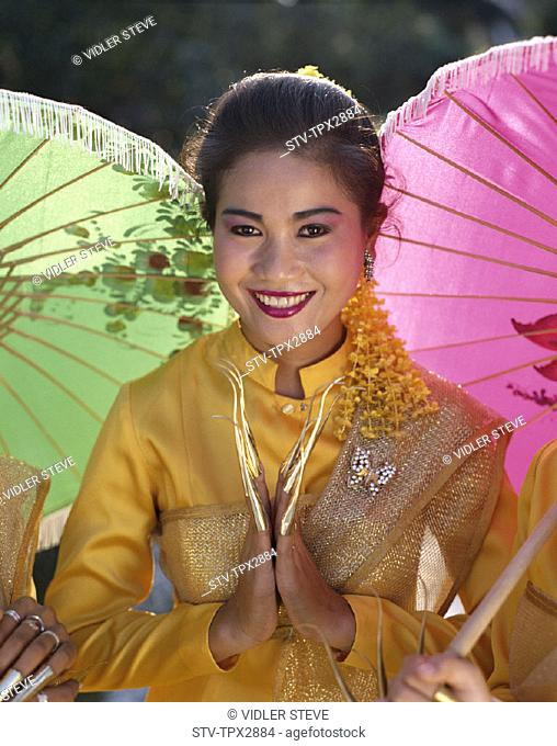 Asia, Bangkok, Girl, Holiday, Landmark, Model, Released, Rose garden, Thailand, Tourism, Traditional costume, Travel, Vacation