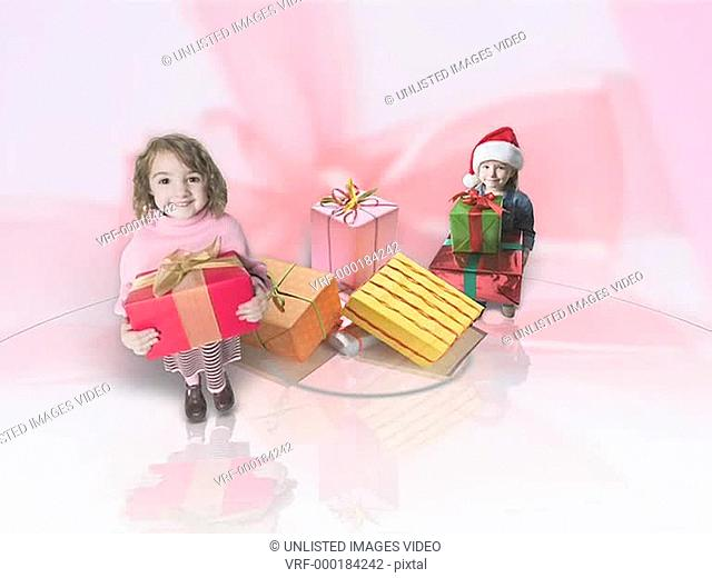 Children with Christmas Gifts