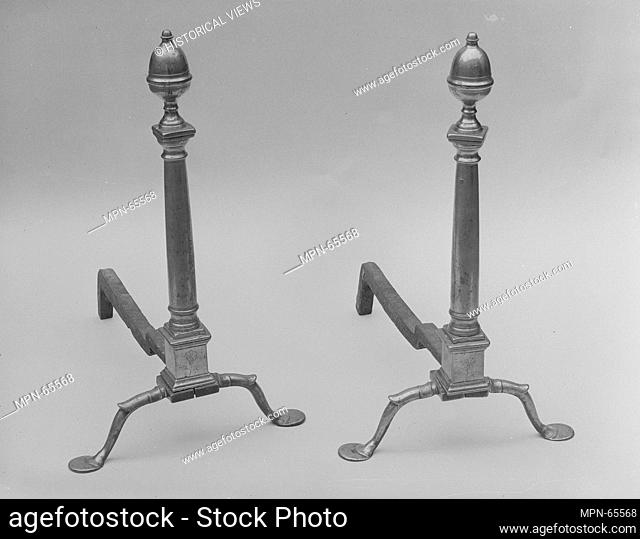 Andiron. Maker: Paul Revere Jr. (American, Boston, Massachusetts 1734-1818 Boston, Massachusetts); Date: ca. 1790; Geography: Made in Boston, Massachusetts