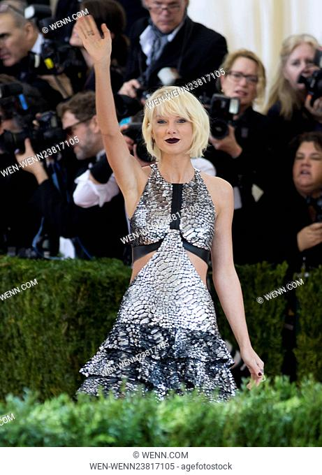 'Manus x Machina: Fashion In An Age Of Technology' Costume Institute Gala held at the Metropolitan Museum of Art Featuring: Taylor Swift Where: New York