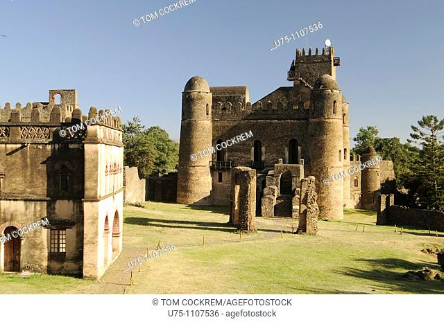 Royal Enclosure and Fasilidas Castle Gondar ethiopia