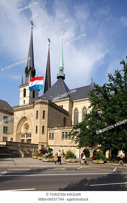 Cathedral of our dear woman, Luxembourg city, Luxembourg