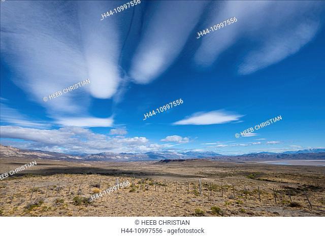 South America, Argentina, Patagonia, Santa Cruz, Cueva de los Manos, clouds in the Pampa