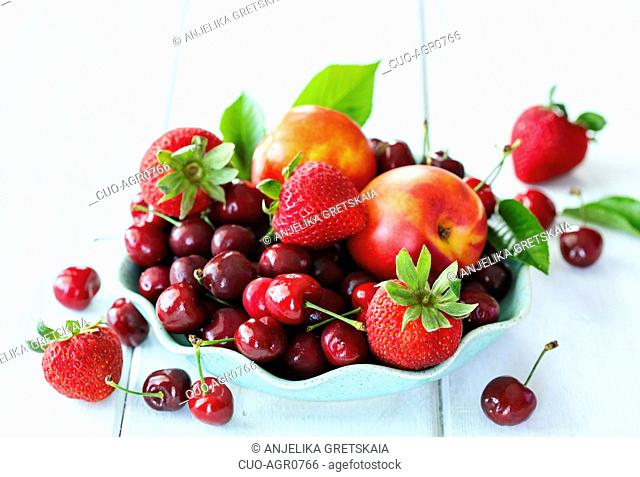 Summer berries and fruits