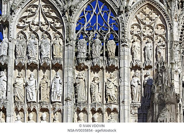 Rouen cathedral, Rouen, Seine-Maritime department, Upper Normandy, France