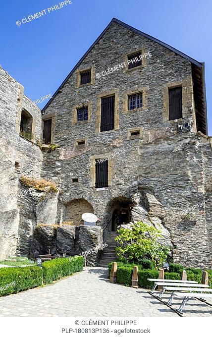 Arsenal / weaponry at the Château de Bouillon Castle, Luxembourg Province, Belgian Ardennes, Belgium