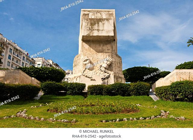 Liberation monument on the Boulevard Khemish Mohamed, Algiers, Algeria, North Africa, Africa