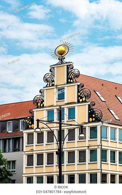 Detail of a building in Rostock, Germany