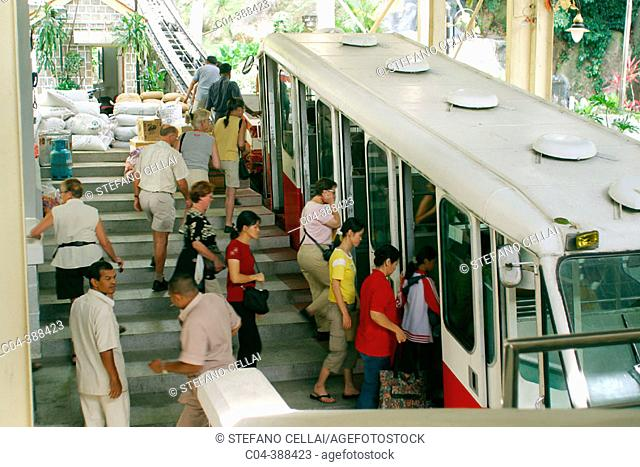 1923's cable car to Penang Hill, George Town. Penang, Malaysia