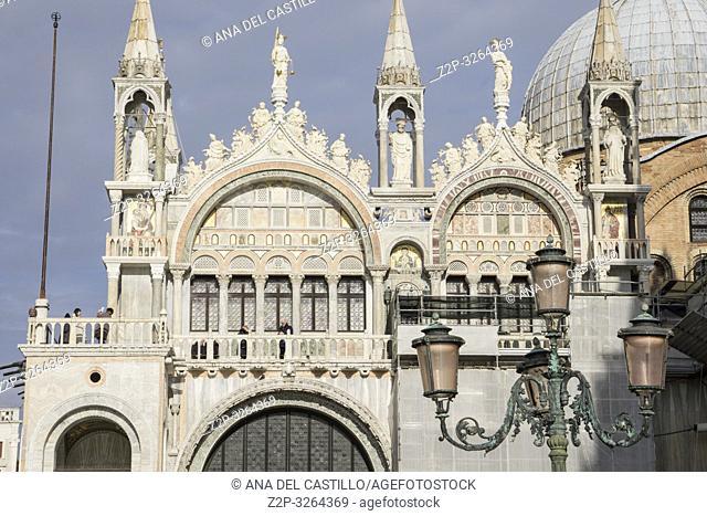 Venice, Veneto, Italy : St Mark's Basilica (San Marco) at St Marks square