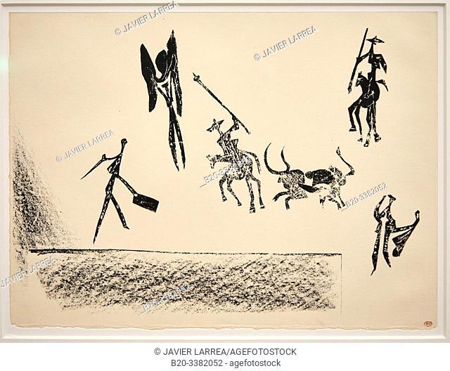 """""""Bullfight (Corrida)"""", 1946, Pablo Picasso, Picasso Museum, Paris, France, Europe"""