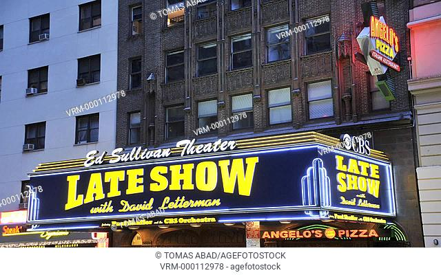 The Ed Sullivan Theater, Historic Landmark, home of The Late Show with David Letterman, Manhattan, New York City, USA