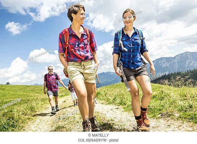 Group of friends hiking, Tyrol, Austria