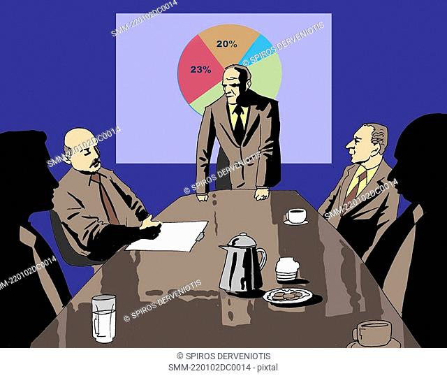 Businessmen at a meeting