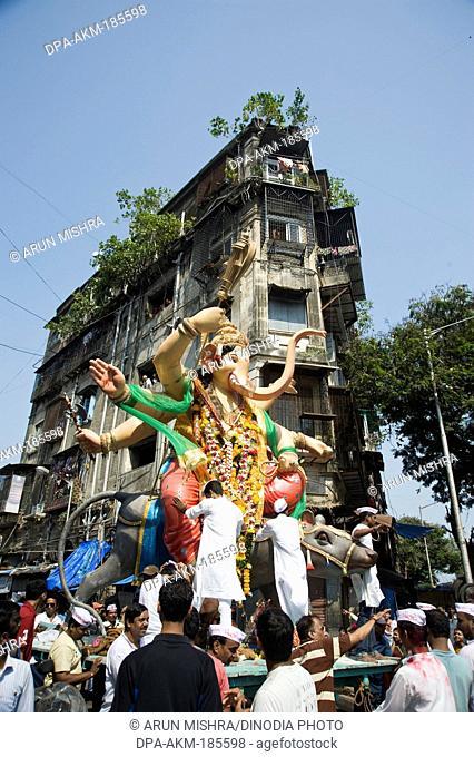 lord ganesh immersion in mumbai at maharashtra India