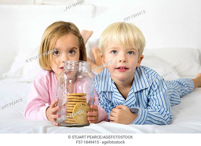 Kids with their hand in the cookie jar