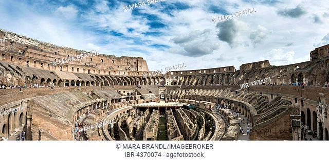 Colosseum, amphitheater, interior, Rome, Lazio, Italy
