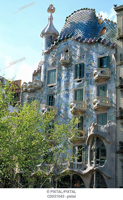 Batlló House (Gaudí, 1904-1906). Barcelona. Spain