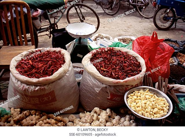 Market stall in china