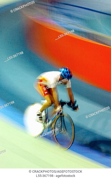 Bicycle racing on track