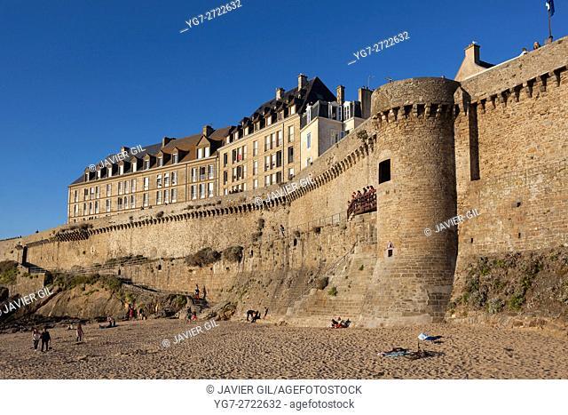 Walls of Saint-Malo, Ille-et-Vilaine, Britanny, France