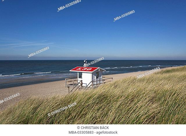 Beach control on the beach of Rantum, island Sylt, Schleswig - Holstein, Germany