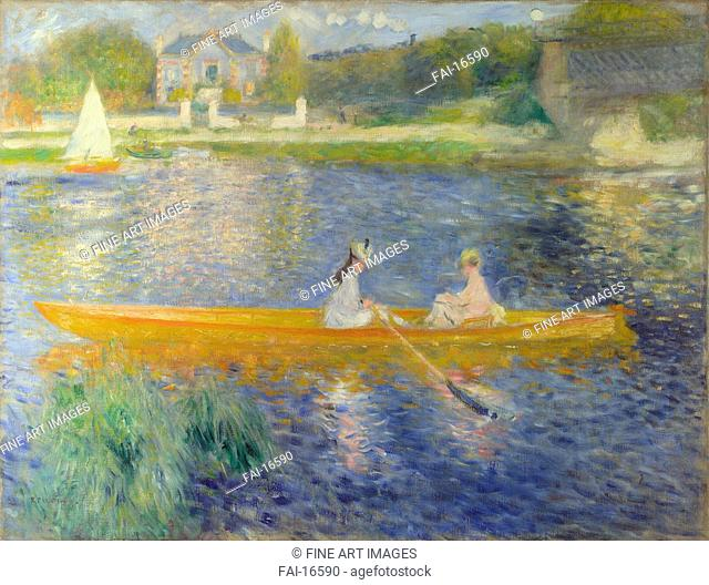 The Skiff (La Yole). Renoir, Pierre Auguste (1841-1919). Oil on canvas. Impressionism. 1875. National Gallery, London. 71x92. Painting