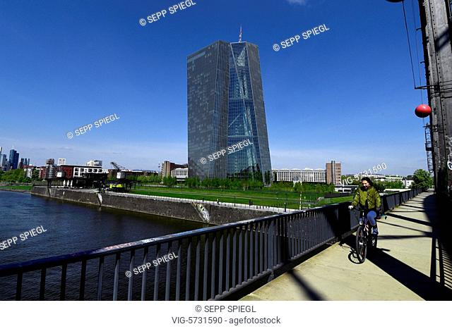 Germany, Frankfurt, April 20, 2017 View of the Central Administration of the European Central Bank (ECB) - FRANKFURT, Germany, 20/04/2017