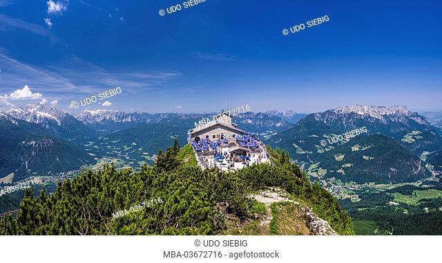 Germany, Bavaria, Upper Bavaria, 'Berchtesgadener Land' (district), Berchtesgaden (municipality), Kehlstein (mountain), Kehlsteinhaus 'Eagle's Nest'...
