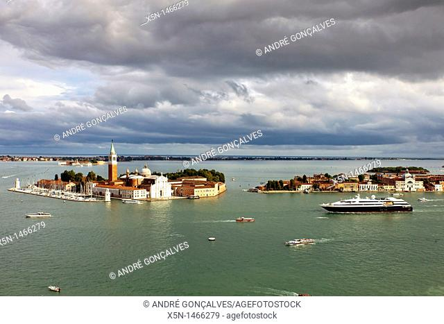 View from San Marcos Tower, Venice, Italy
