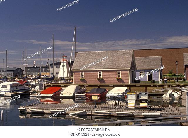 Prince Edward Island, Charlottetown, P.E.I Canada, Marina on Charlottetown's Waterfront on Prince Edward Island