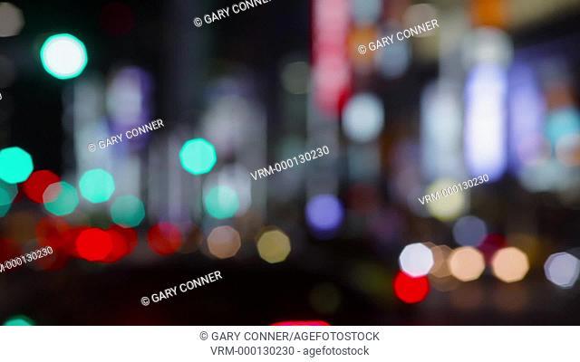 Abstract street blur in Tokyo, Japan