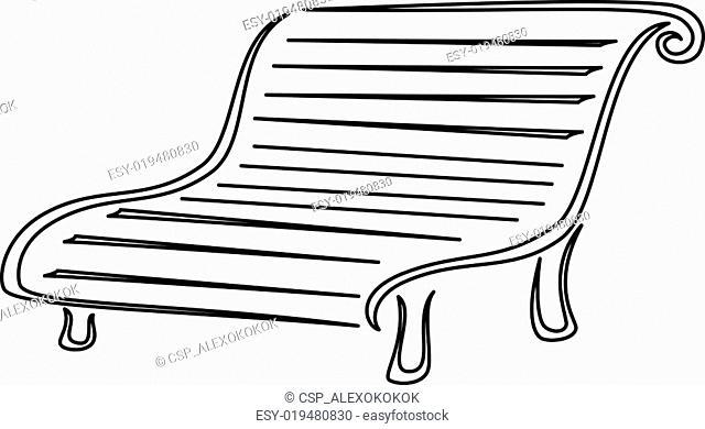 Park bench, contours