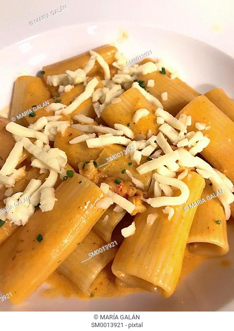 Italian pasta dish. Close view