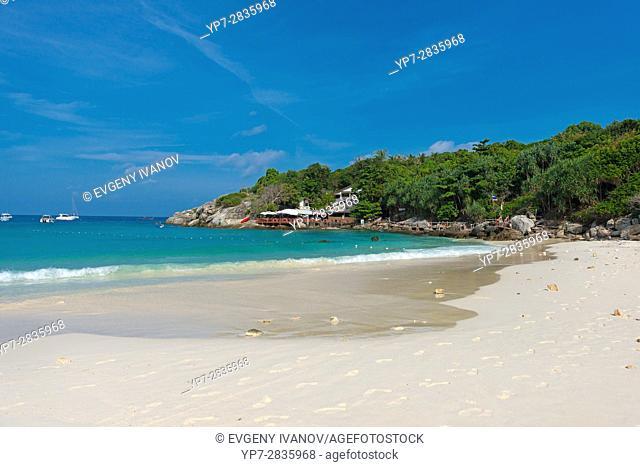 Empty beautiful beach of Raya island in Andaman sea, Thailand