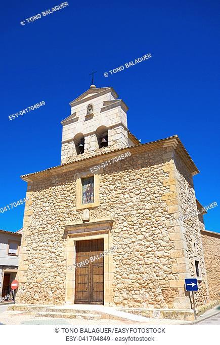 Casas de los Pinos church by Saint James Way of levante in Spain Castile la Mancha