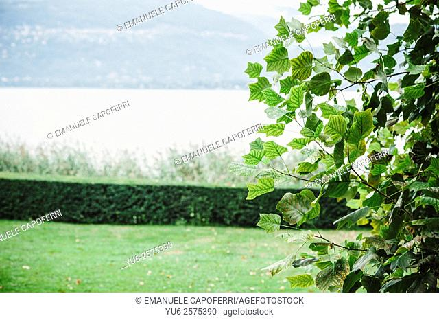 Detail of tree villa on Lake Maggiore, Italy