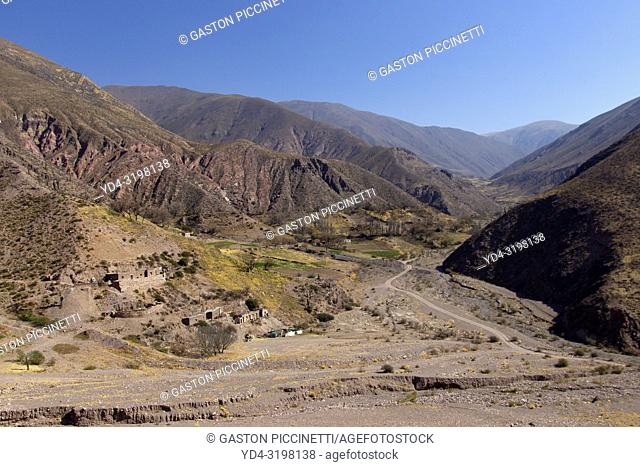 Landscapes on the provincial route 52 that joins pumamarca with large salinas passing through the Cuesta del Lipan, Jujuy, Argentina