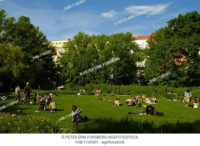 Arkona Platz square park Mitte central Berlin Germany Eurore